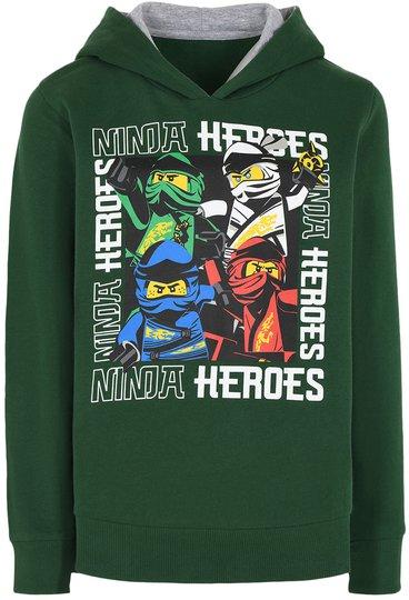 LEGO Collection Hoodie, Dark Green, 104