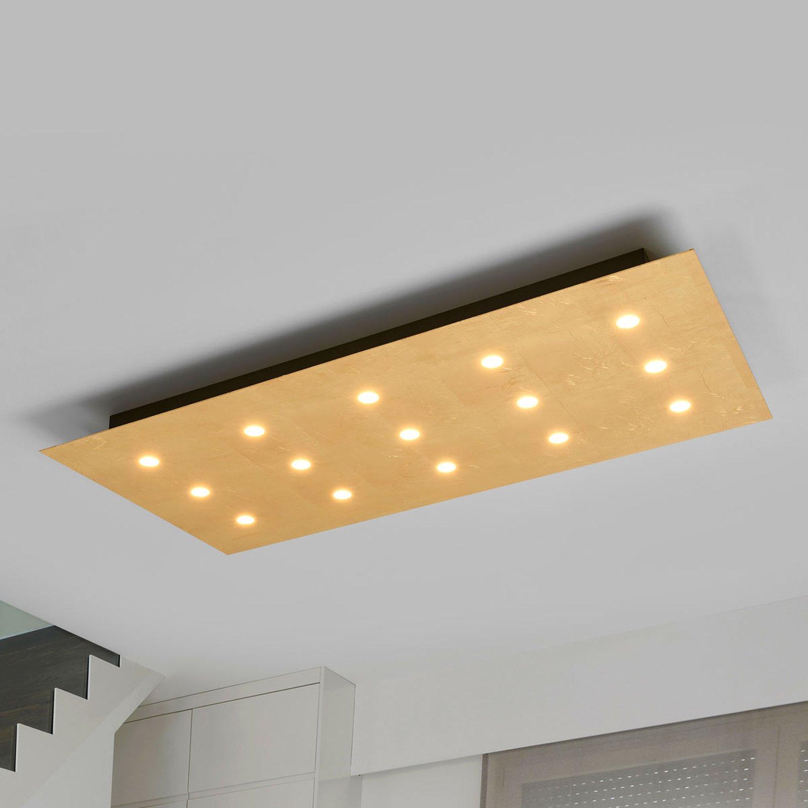 Med 15 LEDs - dimbare taklampe Juri i gull