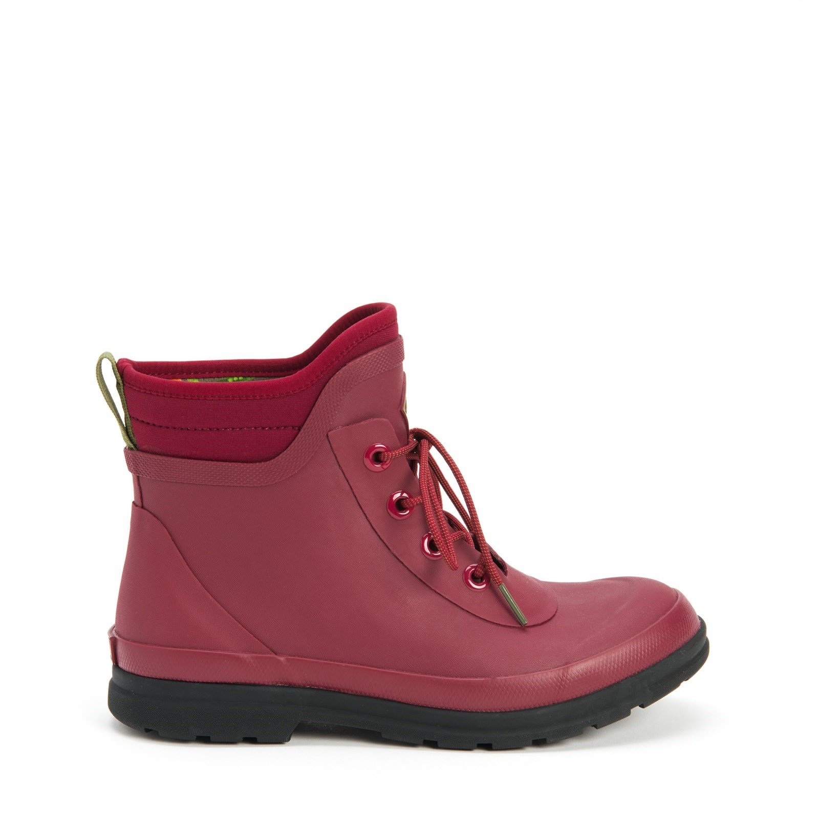 Muck Boots Women's Originals Lace Up Ankle Boot Various Colours 30079 - Berry 3