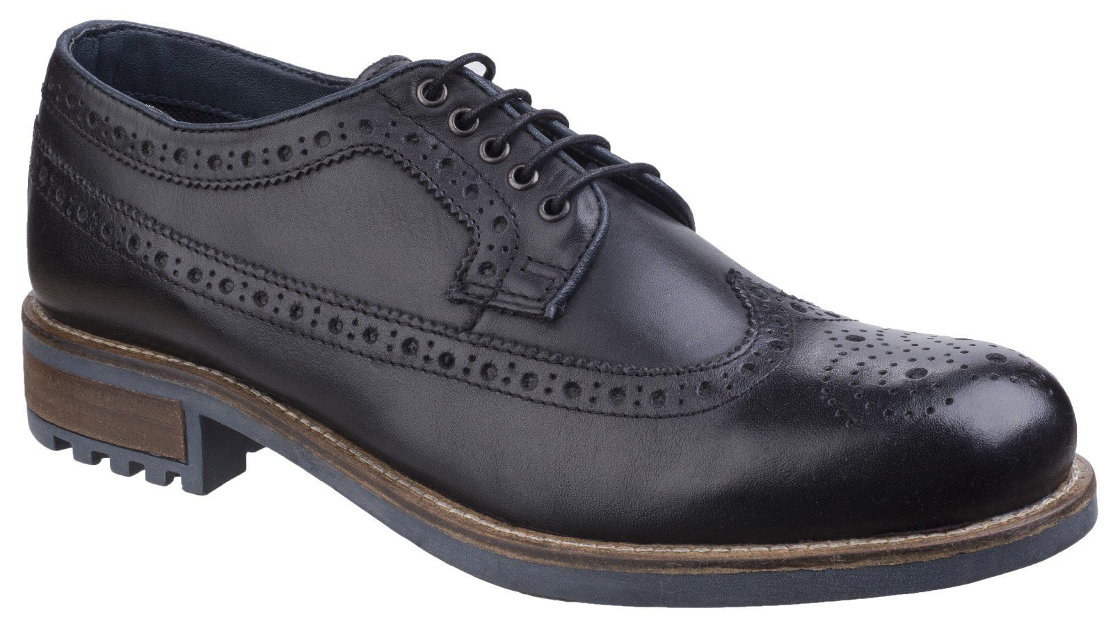 Cotswold Men's Poplar Brogue Dress Shoe Various Colours 25529 - Black 11