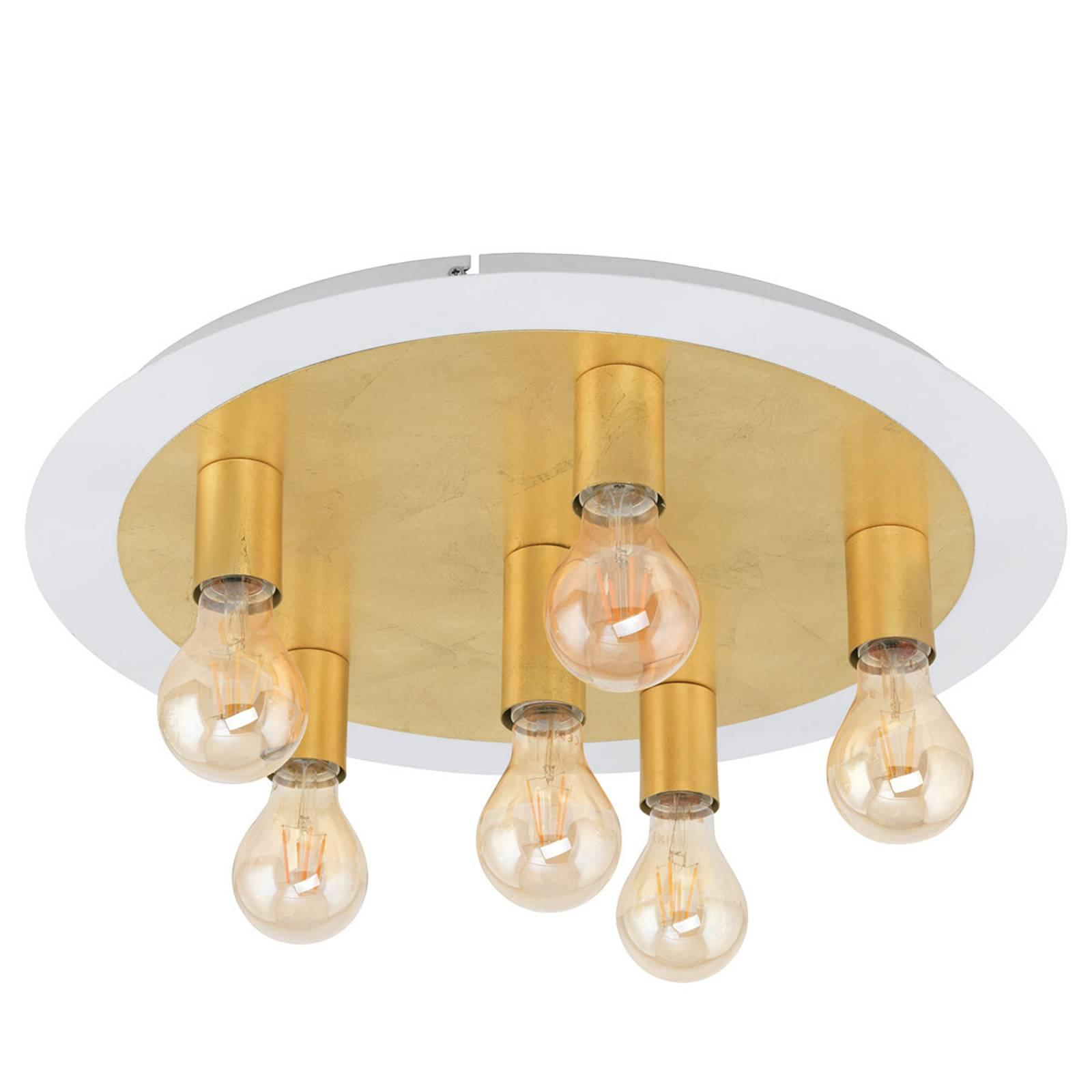 LED-kattovalaisin Passano 6-lamppuinen, kulta