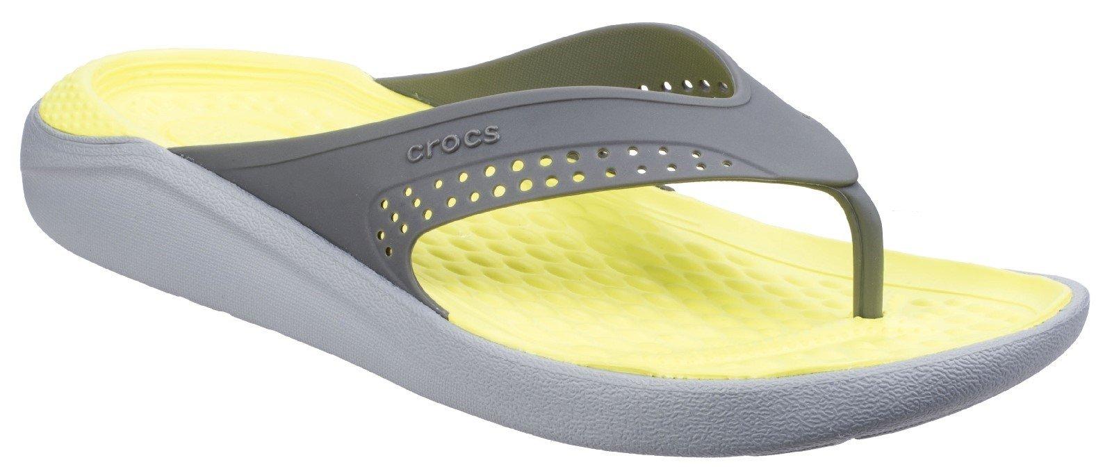 Crocs Unisex LiteRide Flip Flop Various Colours 26904 - Slate Grey/Light Grey 6