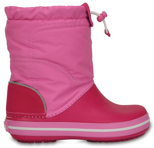 Crocs Kids Crocband LodgePoint Boot, Candy Pink/Party Pink 28-29
