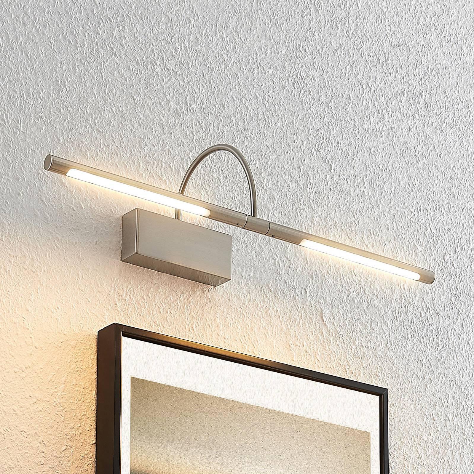 Lucande Fehmke LED-bildelampe, satinert nikkel