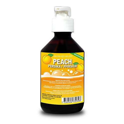 Persika Bordsvattenarom i 270 ml pumpflaska ger 135 liter dryck