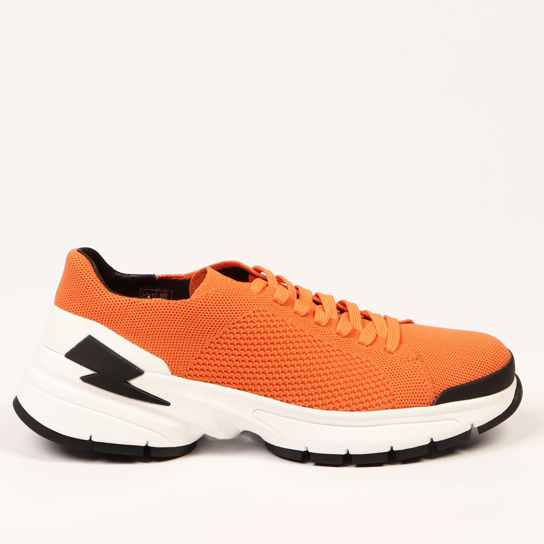 Neil Barrett Men's Trainer Orange NE1407610 - EU39/US6