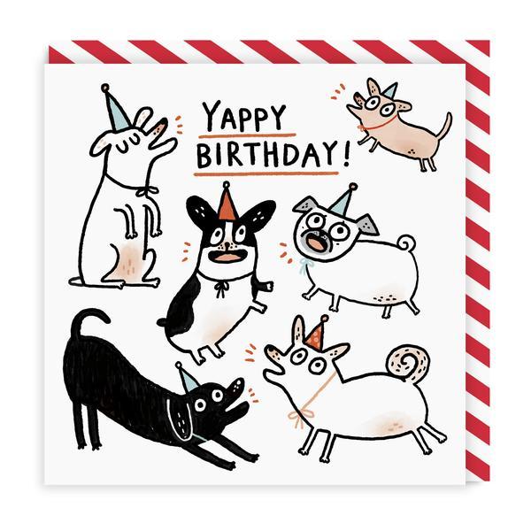 Yappy Birthday Square Greeting Card