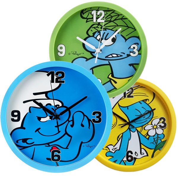 Smurfs Wall Clock 25cm - 1 st
