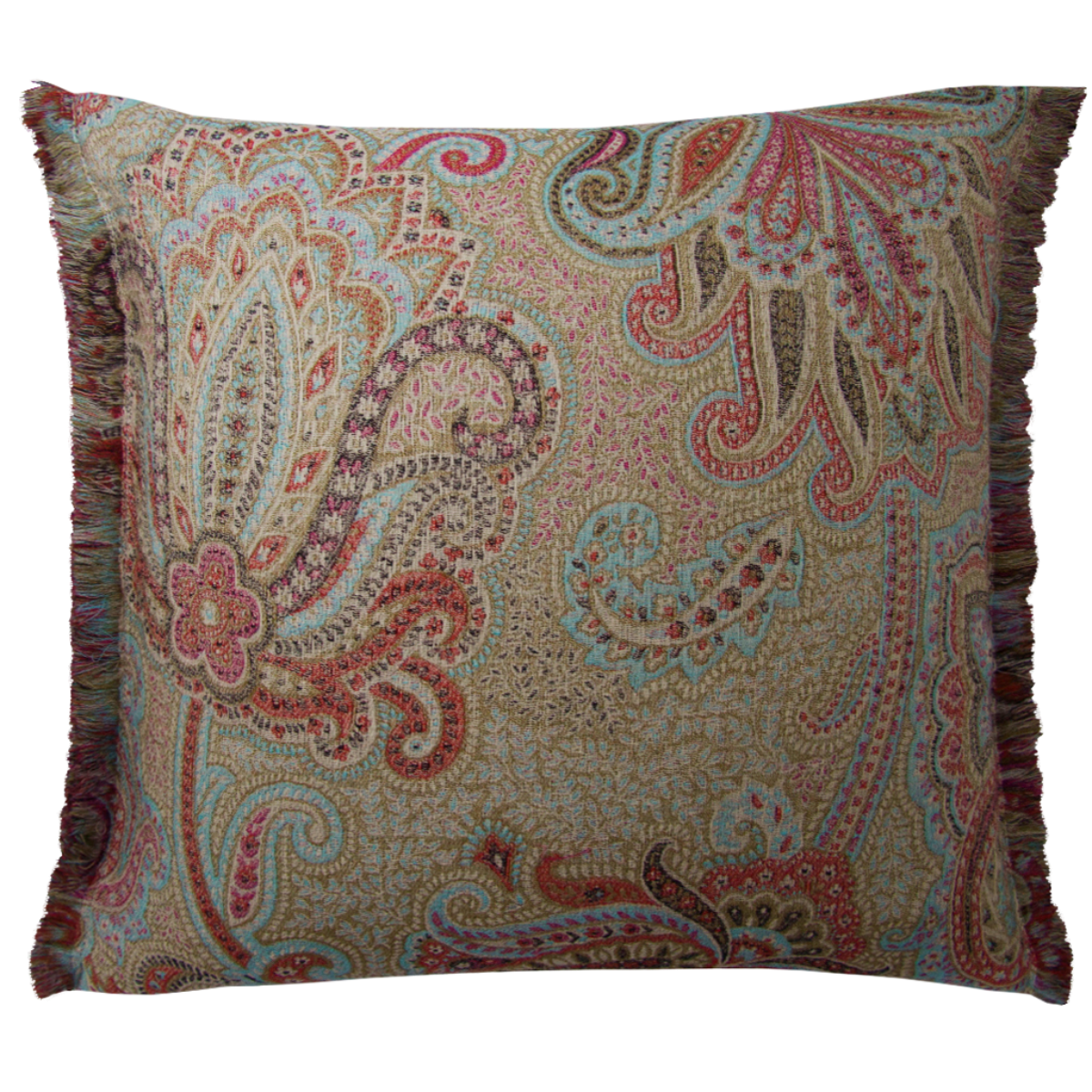de Le Cuona | Dragonfly Cushion With Fringe Sapphire