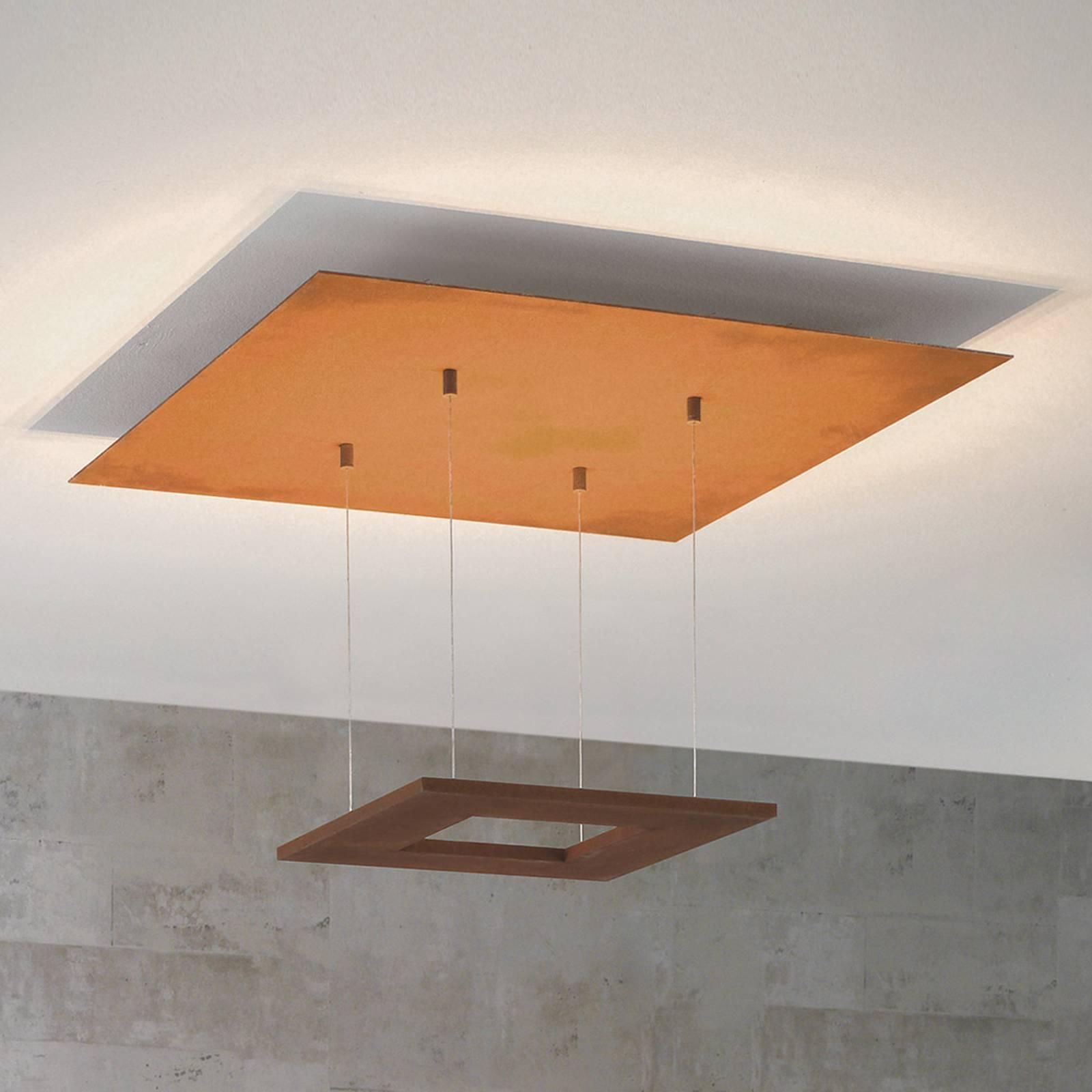 Escale Zen -LED-kattovalaisin, 60 cm, ruoste