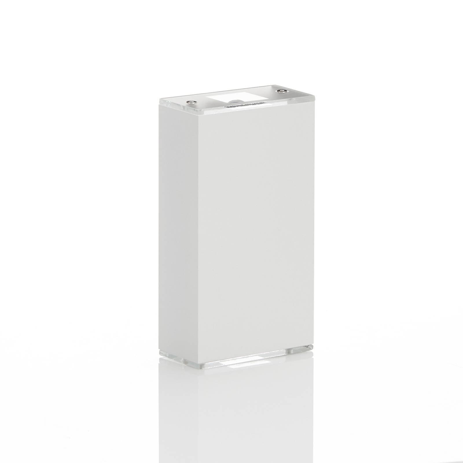 Lucande Anita LED-vegglampe hvit, høyde 17 cm
