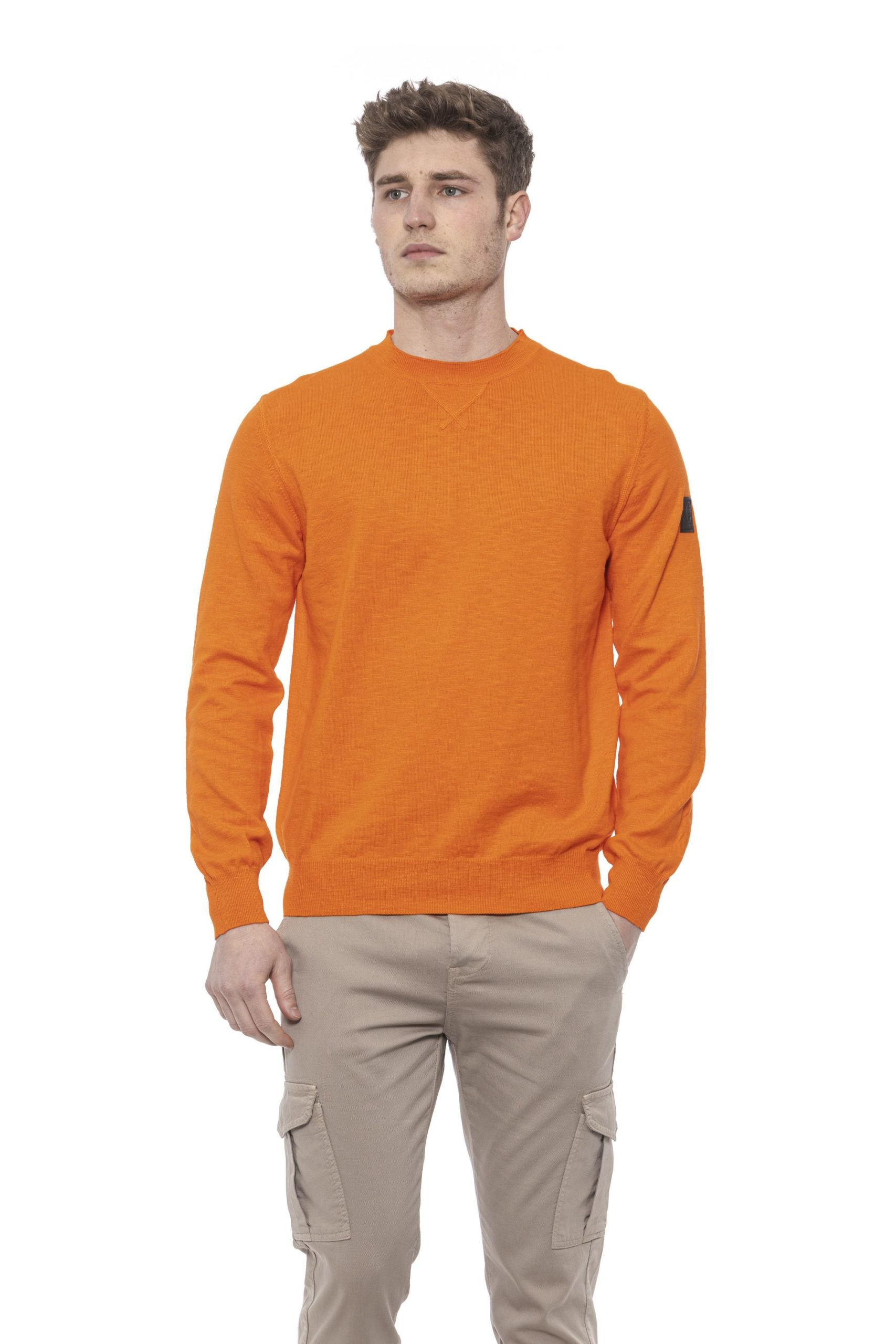 Conte of Florence Men's Sweater Orange CO1376456 - S