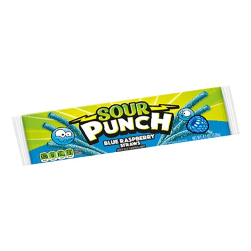 Sour Punch Blue Raspberry Straws - 1-pack