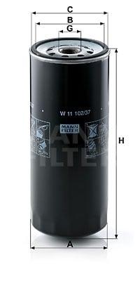 Öljynsuodatin MANN-FILTER W 11 102/37