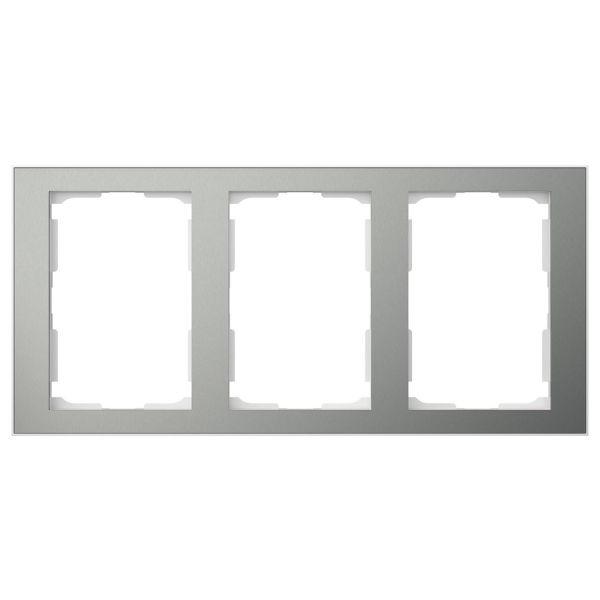 Elko EKO06183 Kombinasjonsramme blåmetall/aluminium, 1½-roms 3 x 1½ rom