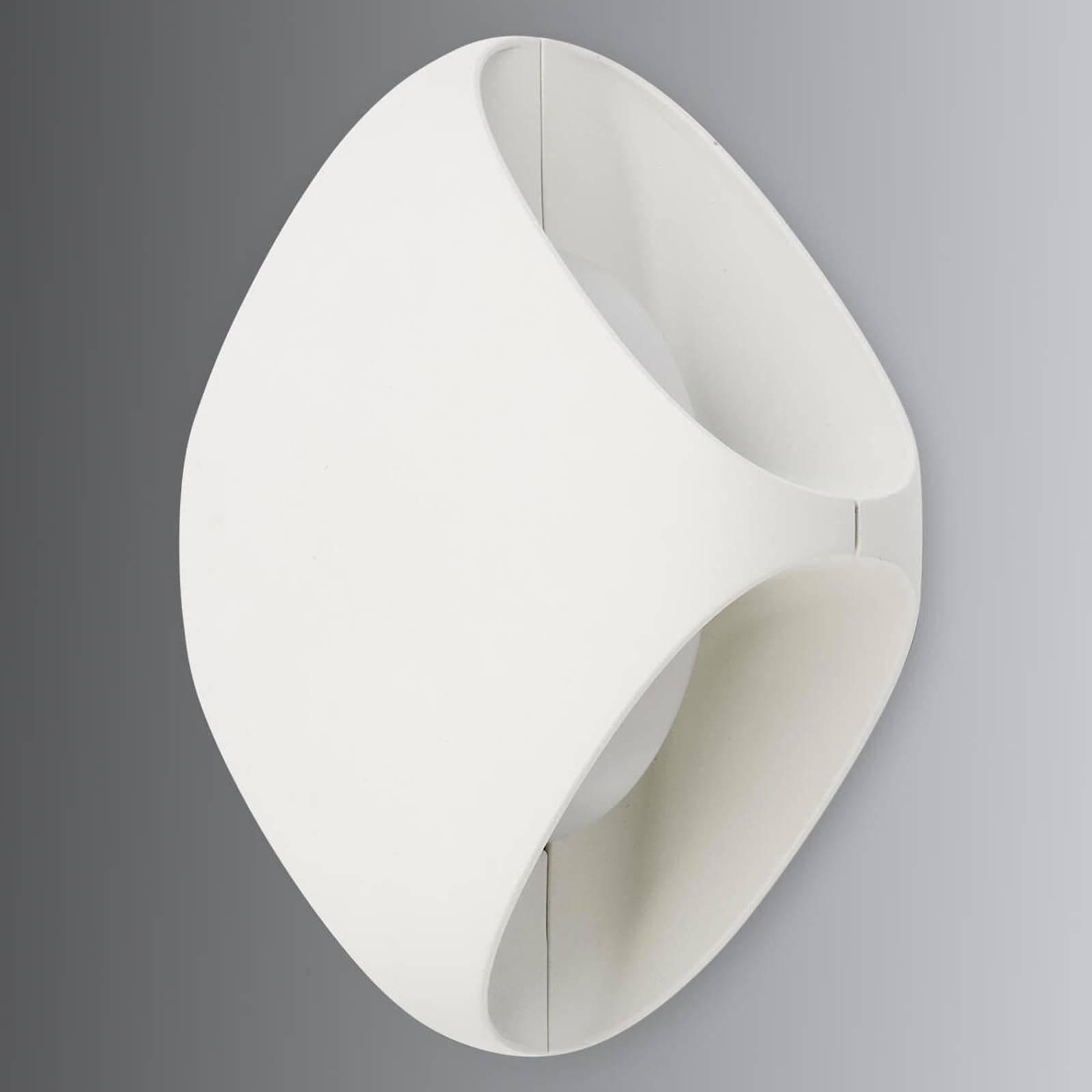Utendørs LED-vegglampe Bu-oh!, hvit