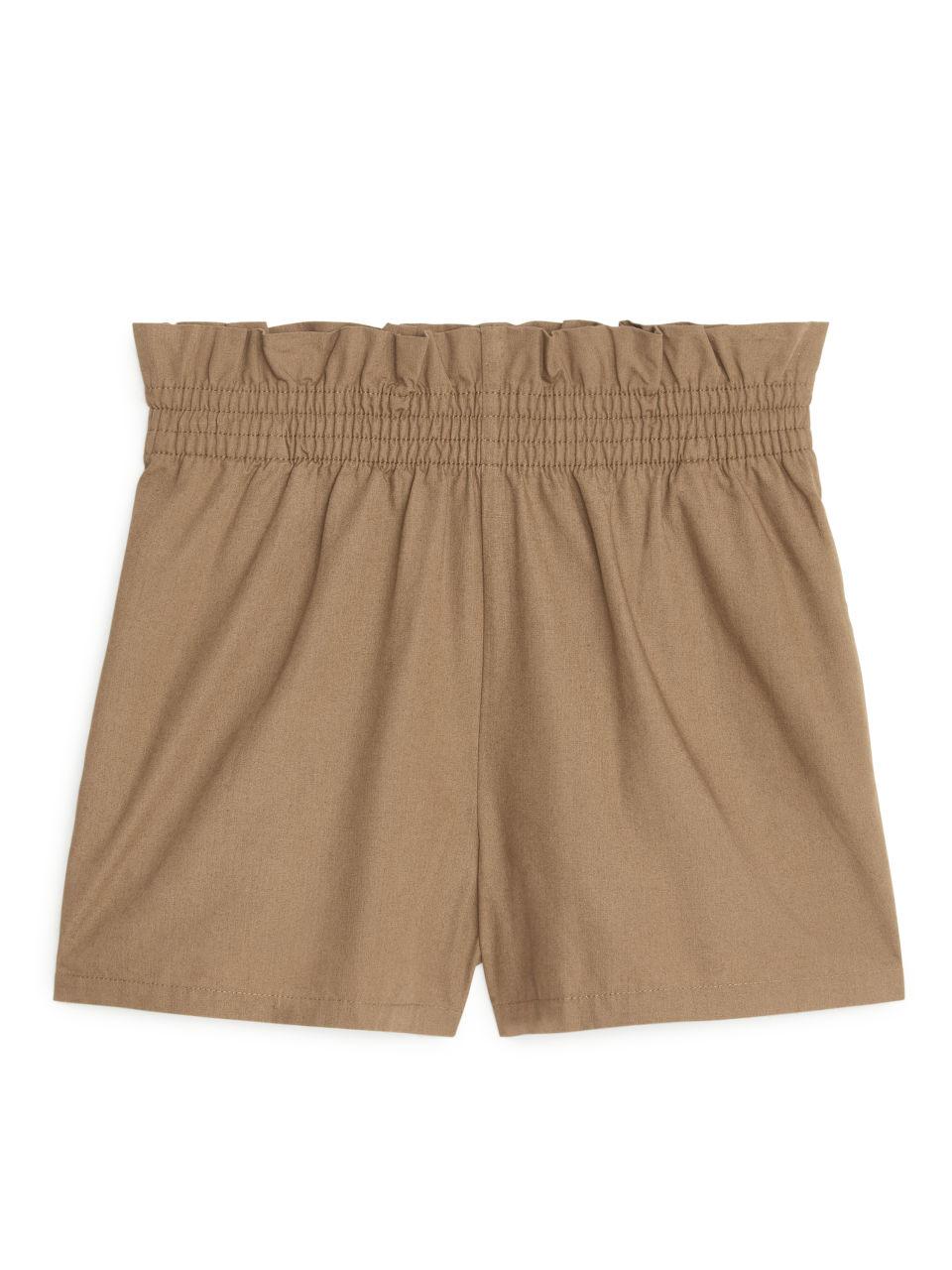 Paperbag Shorts - Beige