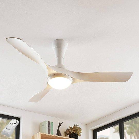 Arcchio Borga LED -kattotuuletin, valkoinen