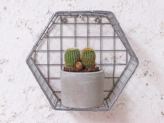 Metal Hexagon Shelf