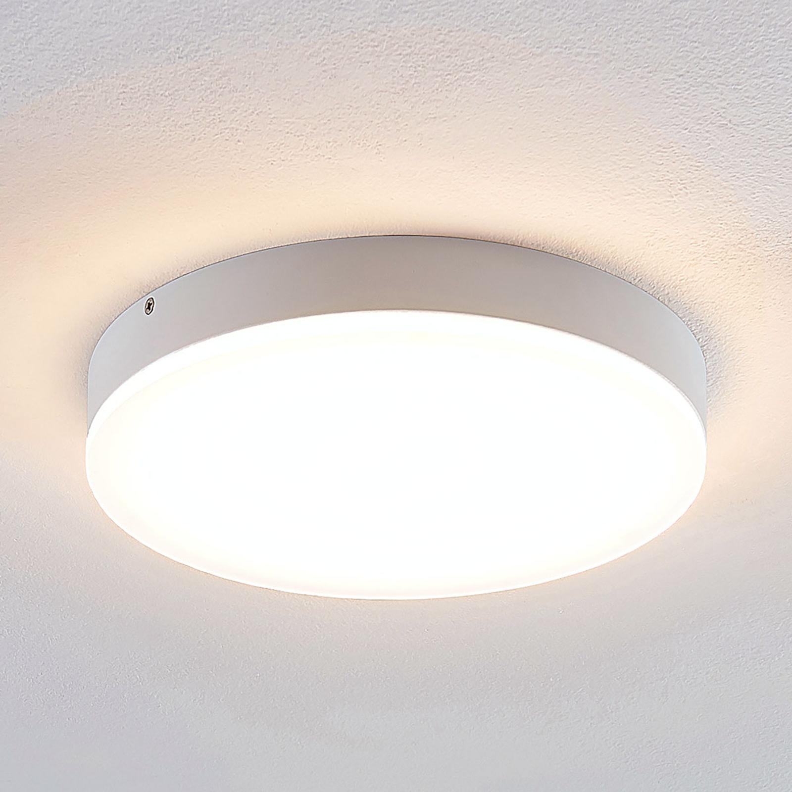 Lindby Leonta LED-kattovalaisin, valkoinen, 25 cm
