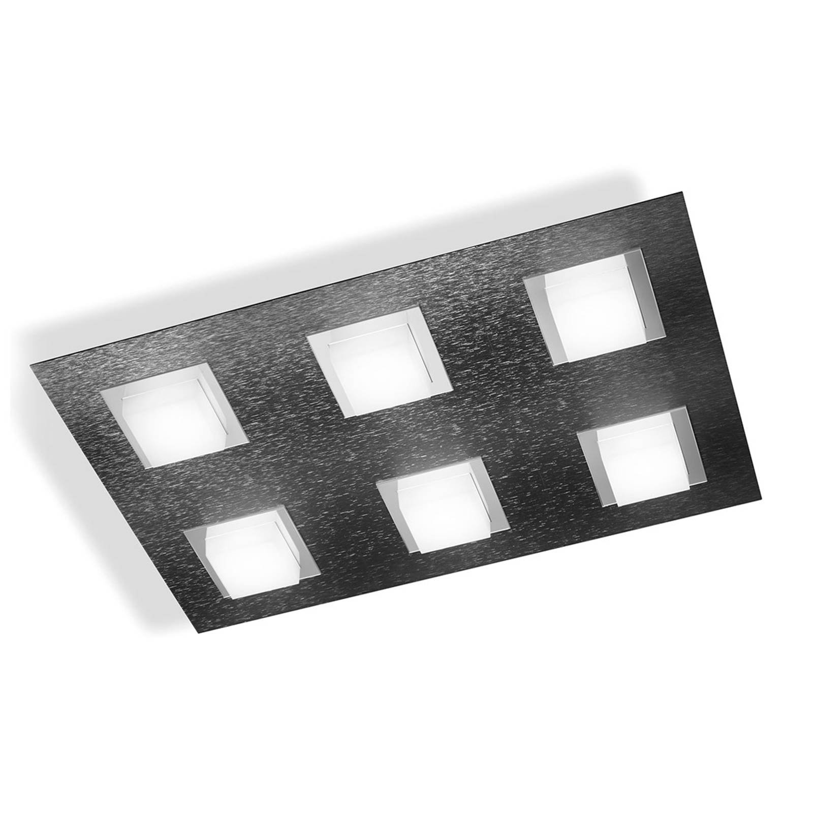 GROSSMANN Basic LED-taklampe 6lk., antrasitt