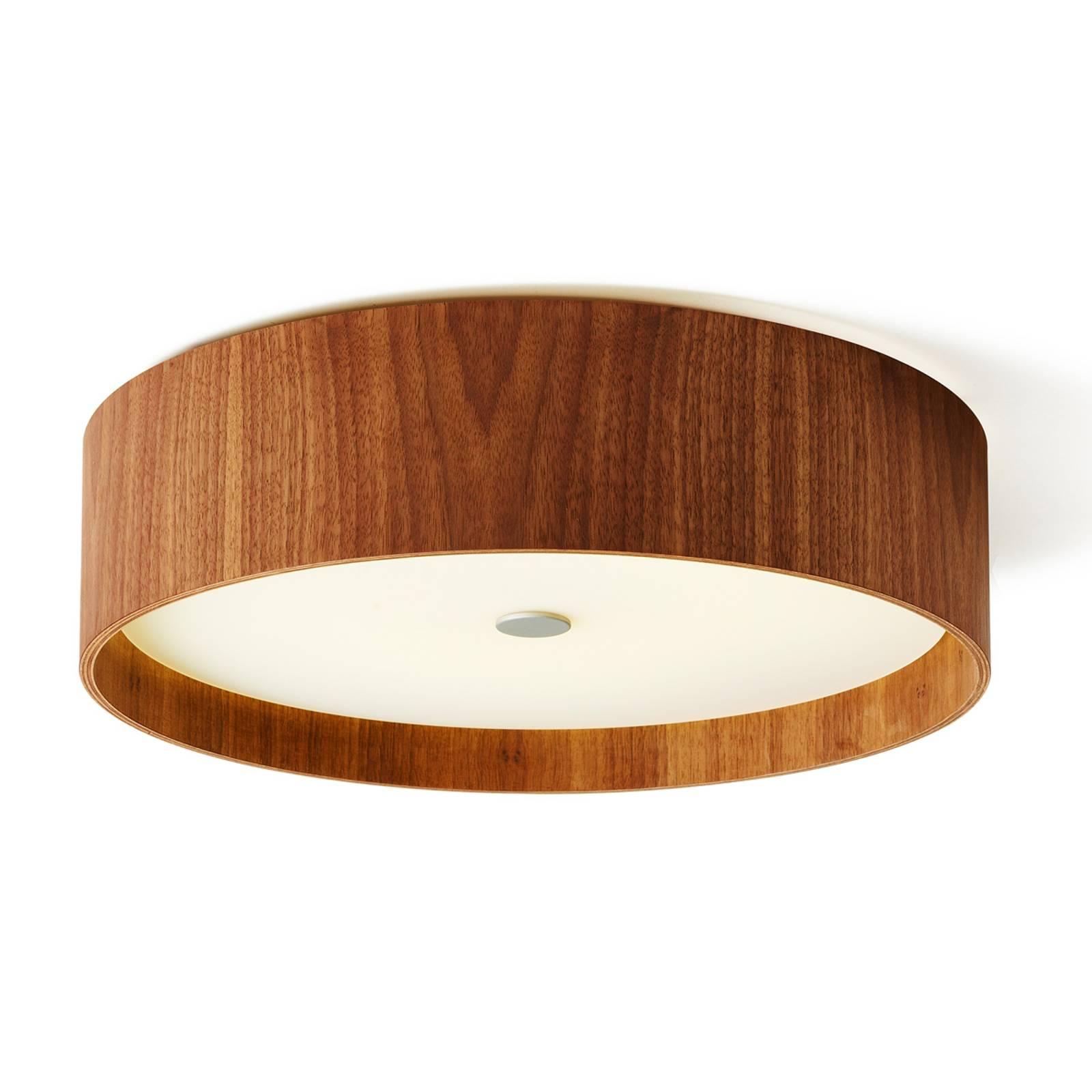 Pähkinäpuinen kattolamppu Lara wood LED 43 cm
