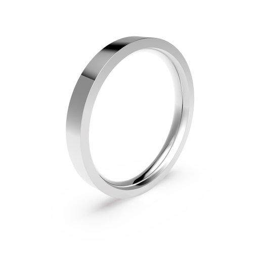 Förlovningsring i platina 3mm, 50
