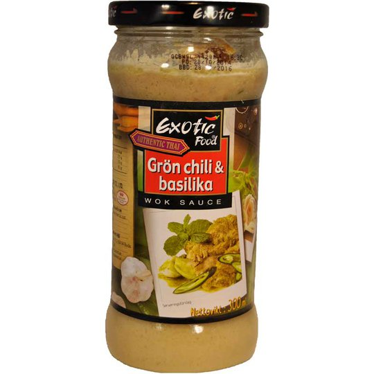 Woksås Grön chili/Basilika - 42% rabatt