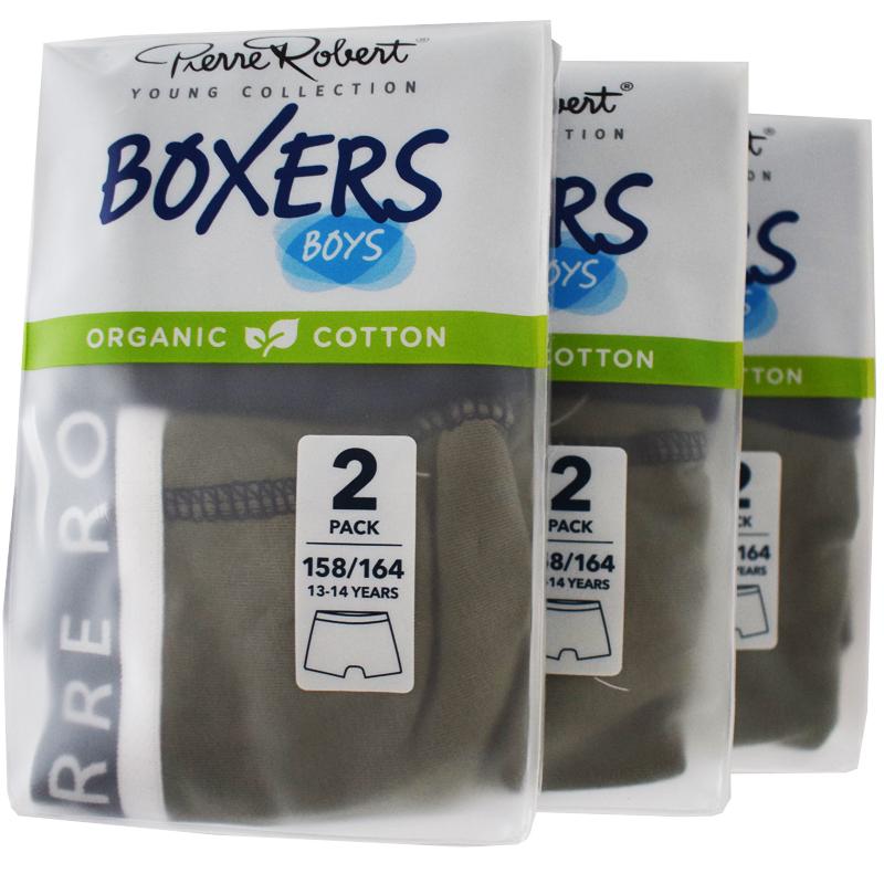 Kalsonger Boxers Barn 158-164 Khaki & mörkblå 6-pack - 57% rabatt