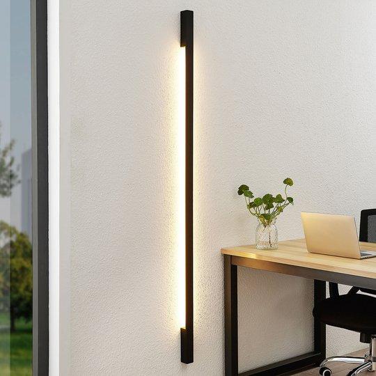 Arcchio Ivano -LED-seinävalaisin 170 cm, musta