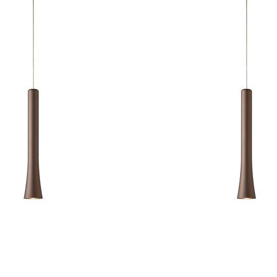 2-lamppuinen LED-riippuvalaisin Rio eleg. muodolla