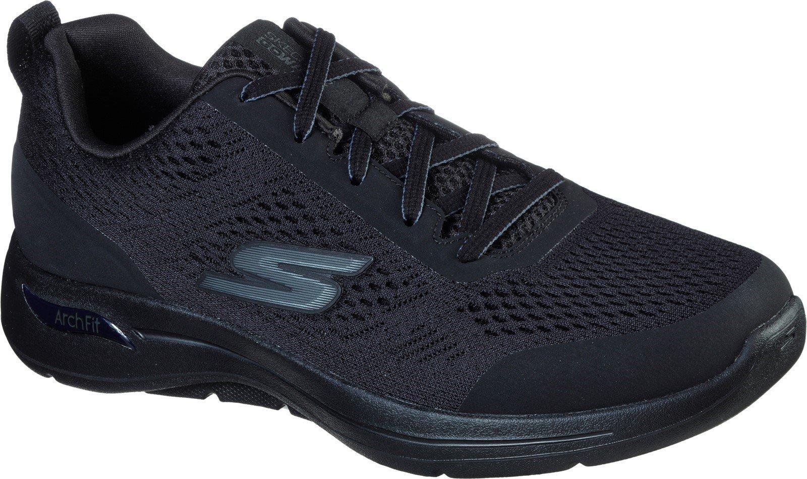 Skechers Men's Go Walk Arch Fit Idyllic Sports Trainer Various Colours 32202 - Black/Black 6