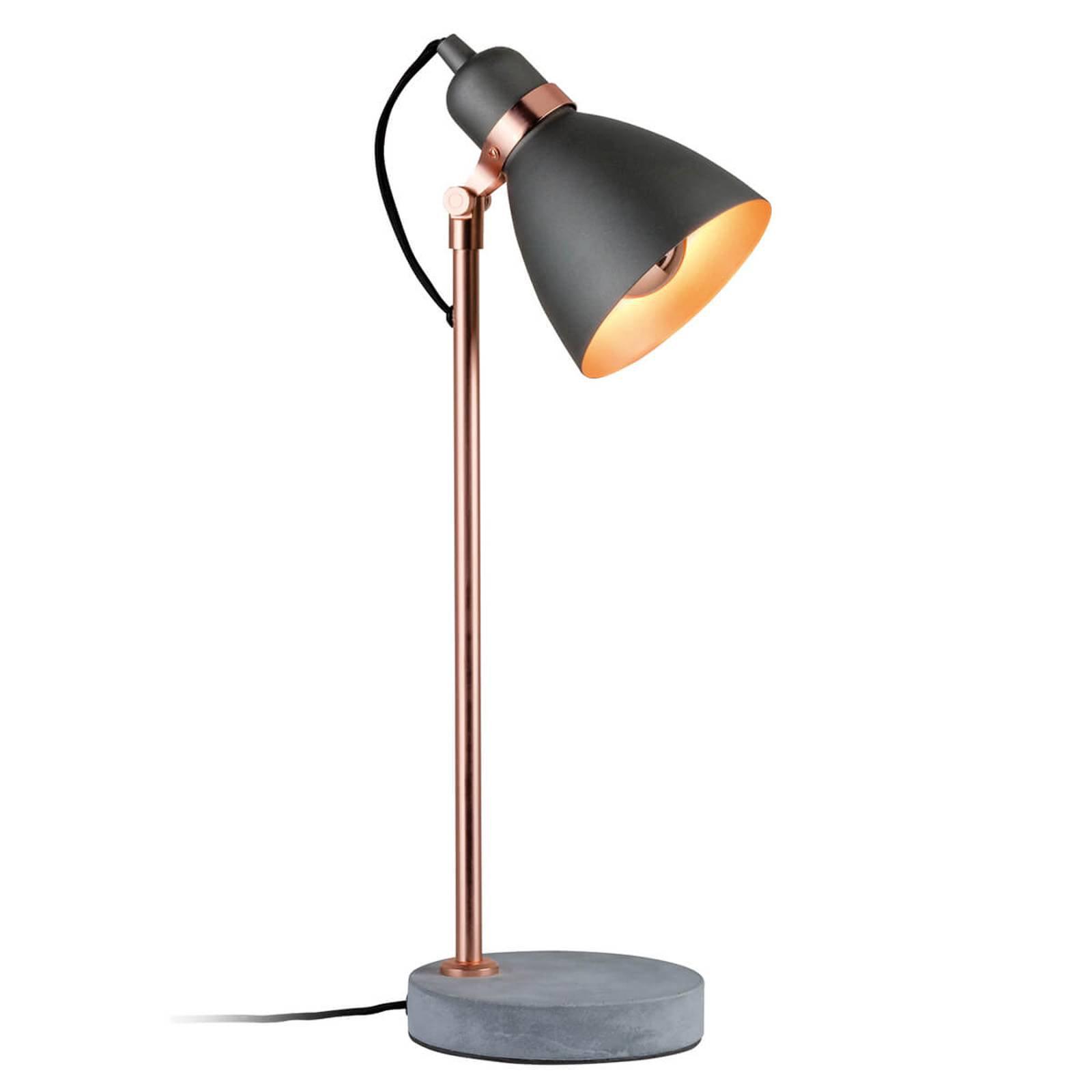 Moderne bordlampe Orm med betongfot