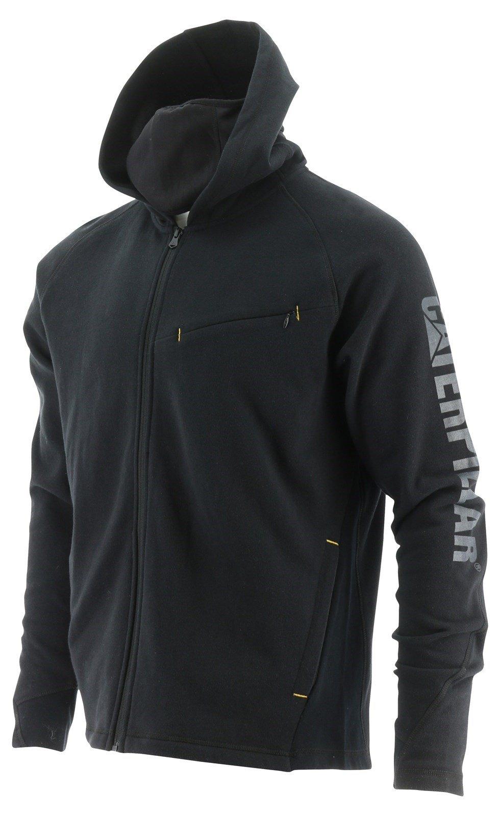 Caterpillar Unisex Viraloff Hooded Sweatshirt Black 32506 - Black Sml