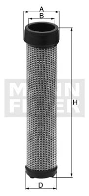 Toisioilmasuodatin MANN-FILTER CF 18 211