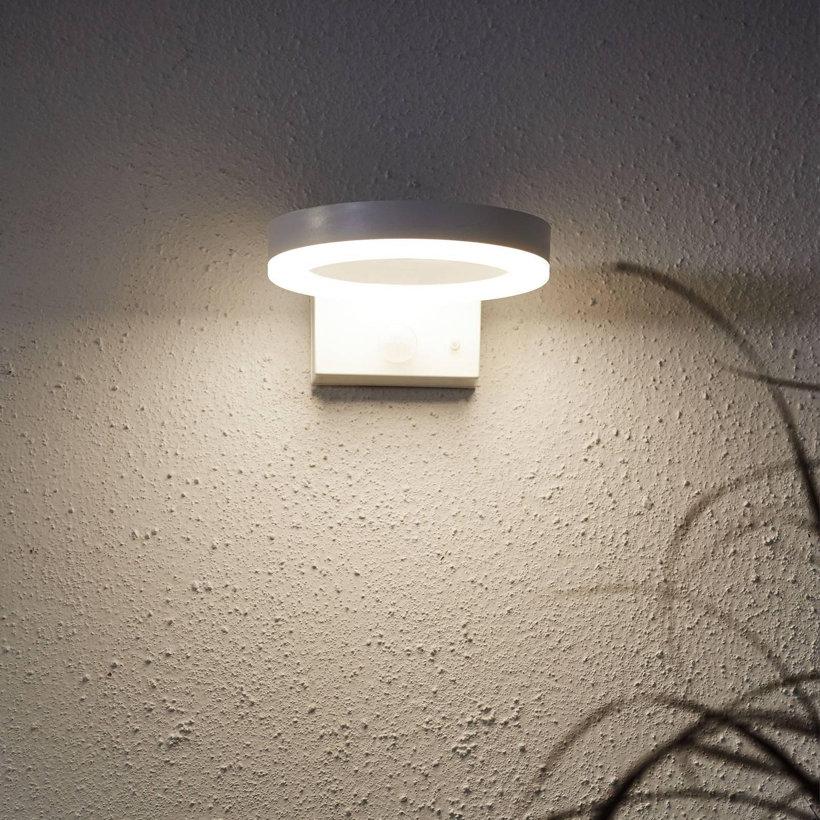 LED-solvegglampe Vidi med bevegelsessensor