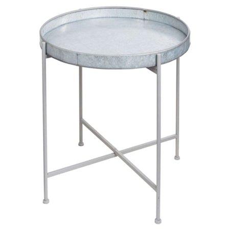 Brettbord i blikk Ø50cm