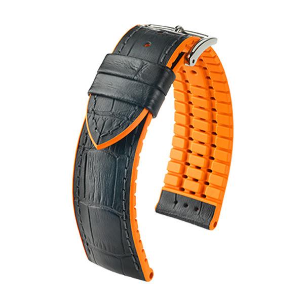 Hirsch Andy 22mm Large Svart/Orange/Silver 0927628050-2-22