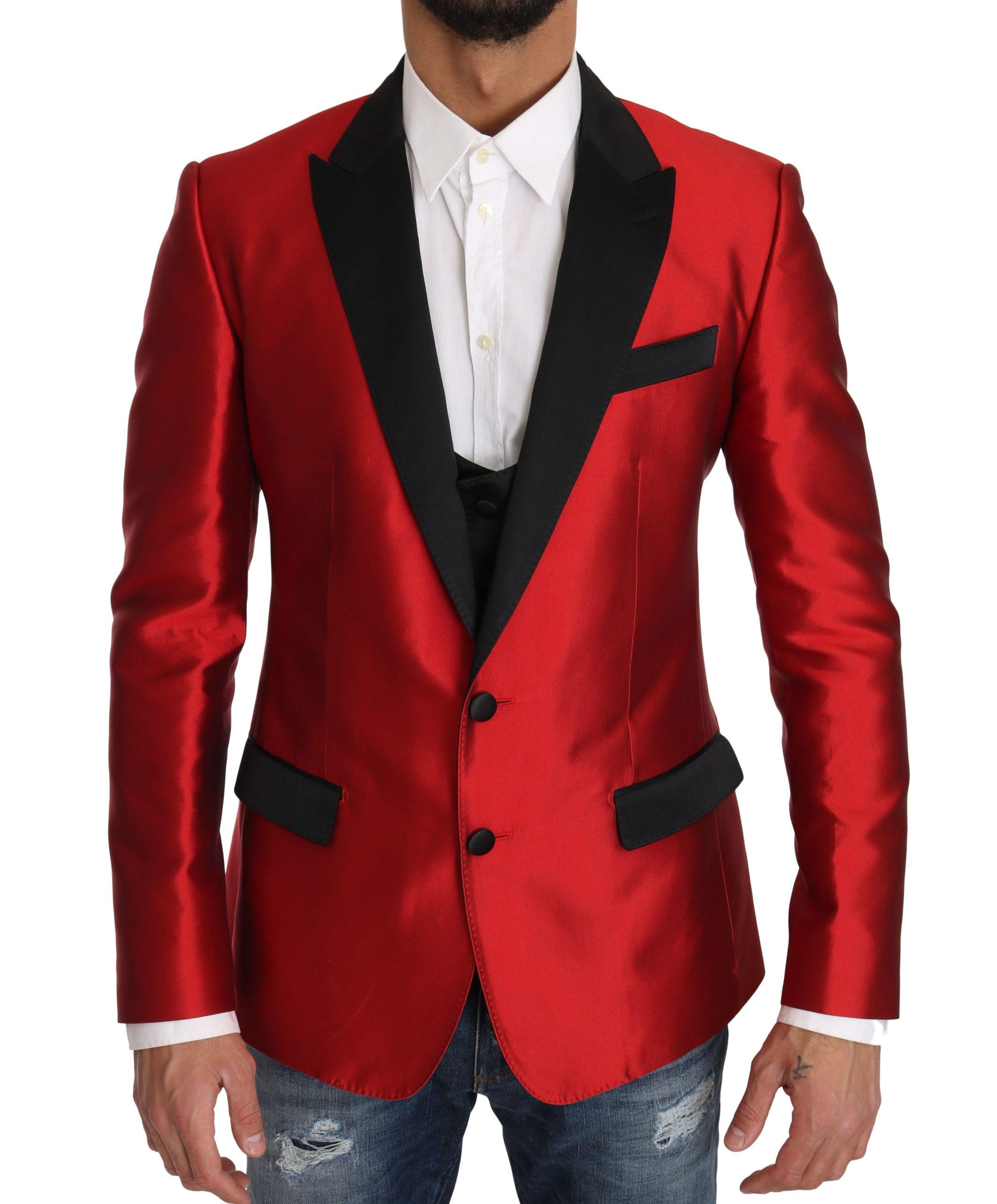 Dolce & Gabbana Men's Silk 2 Piece Vest Blazer Black KOS1174 - IT50 | L
