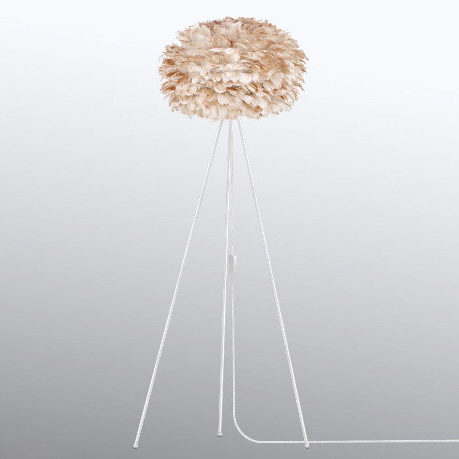 UMAGE Eos medium gulvlampe Tripod lysebrun