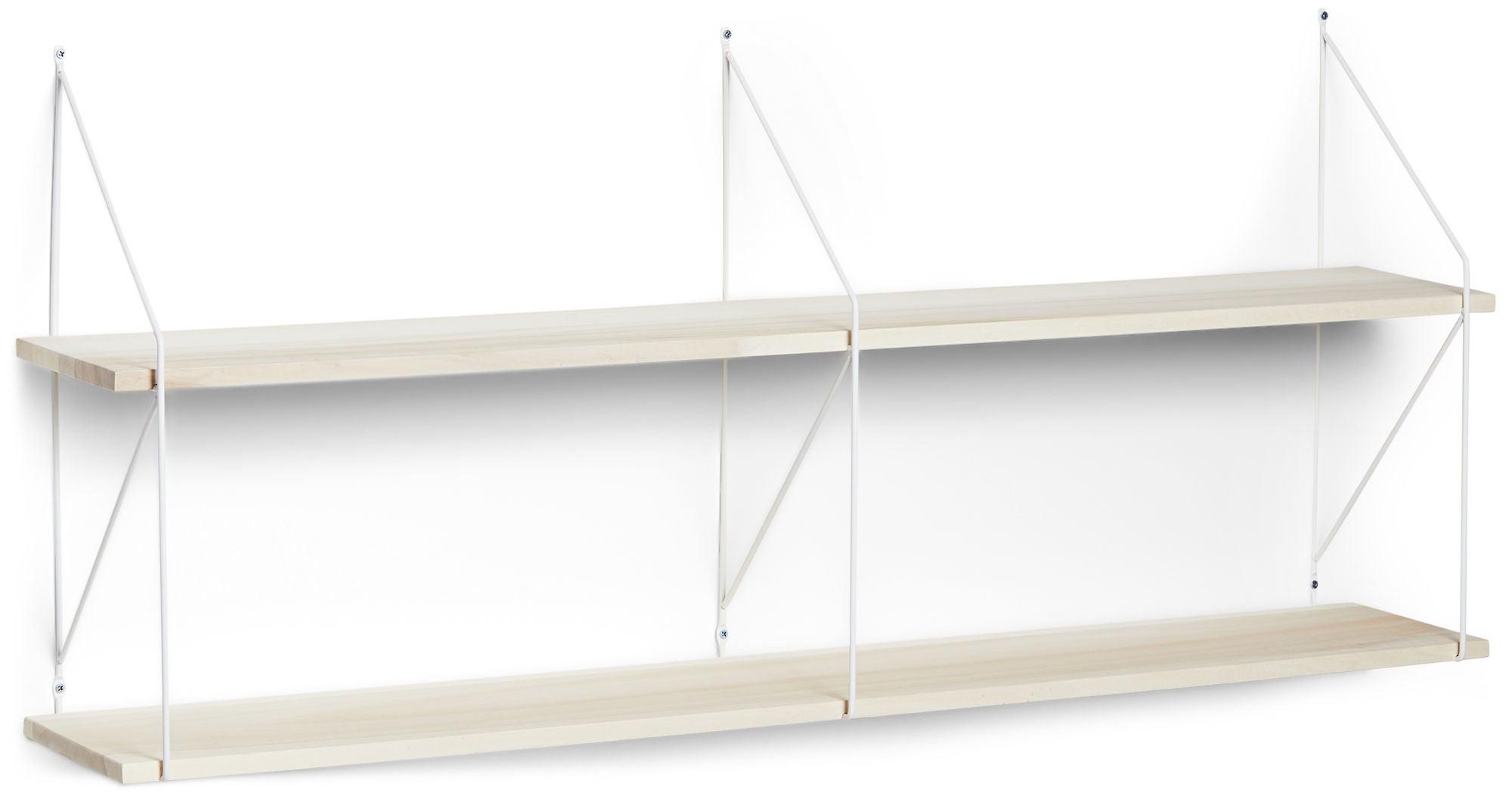 Alice & Fox Seinähylly 120 cm, Puu/Valkoinen