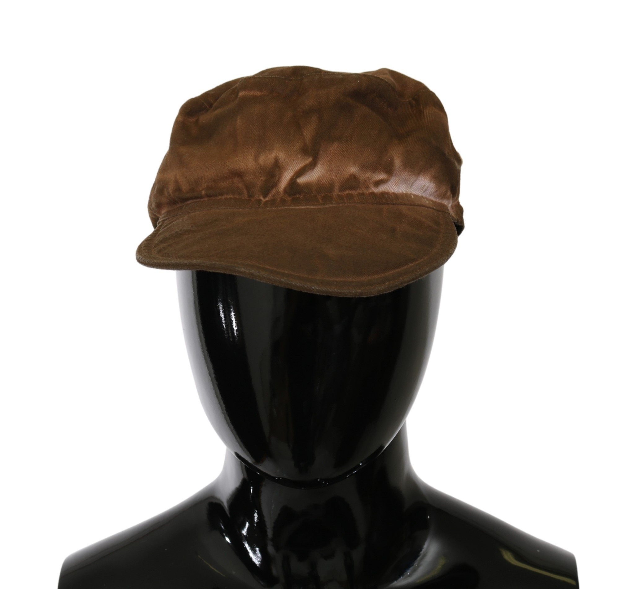 Costume National Women's Newsboy Beret Cabbie Hat Brown HAT20002BG - 57 cm|S
