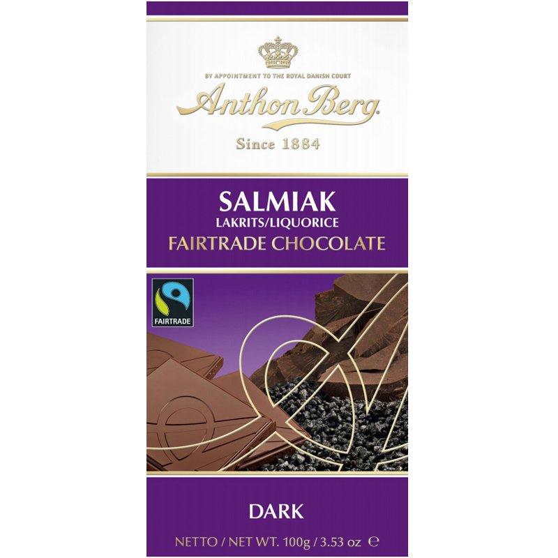 Tumma Suklaa Salmiak Liquorice 100g - 42% alennus