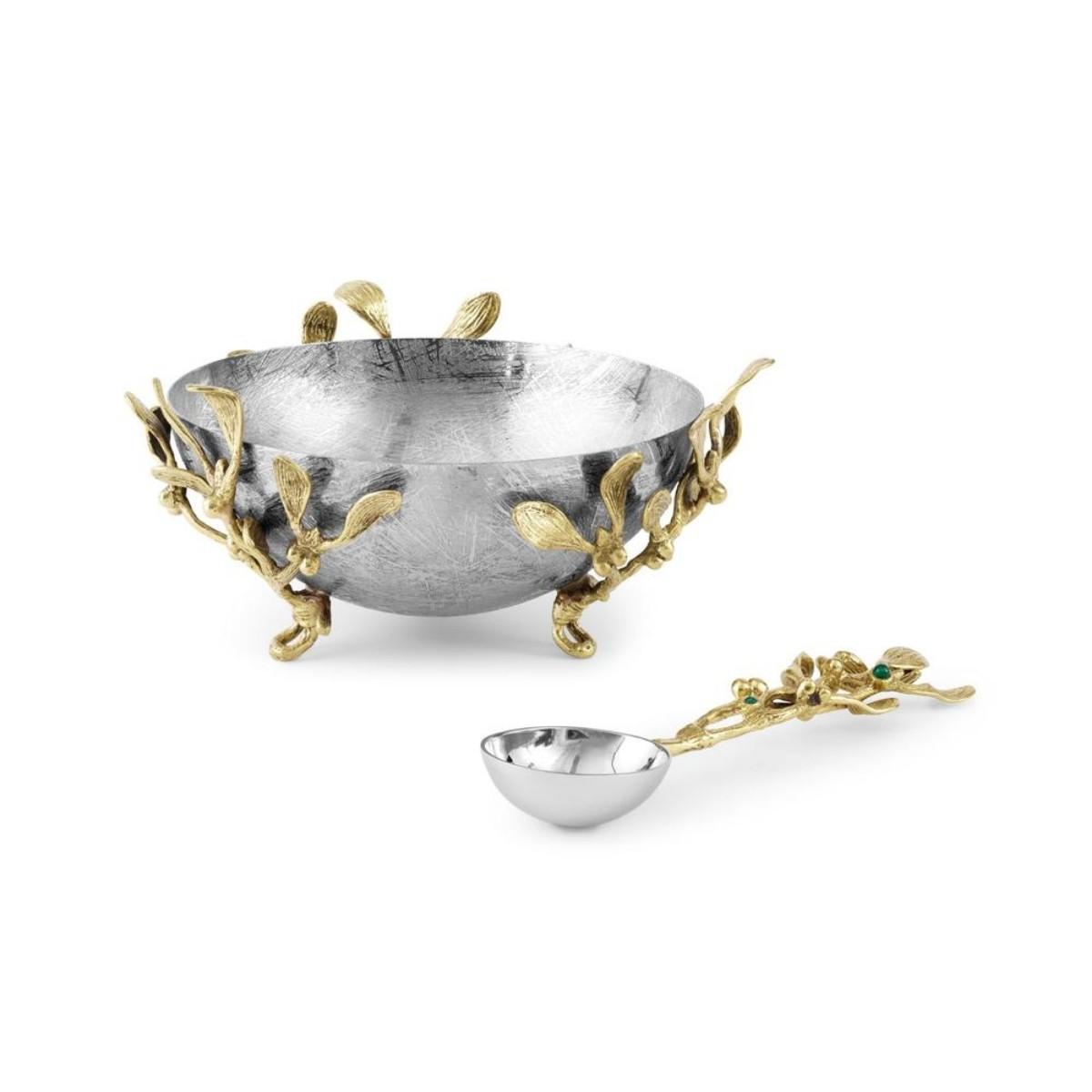 Michael Aram I Mistletoe Small Dish w/ Spoon