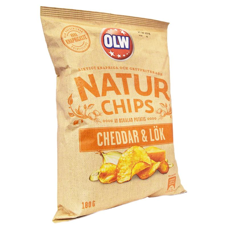 Chips Cheddar & Lök 180g - 25% rabatt