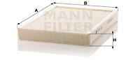 Raitisilmasuodatin MANN-FILTER CU 31 001