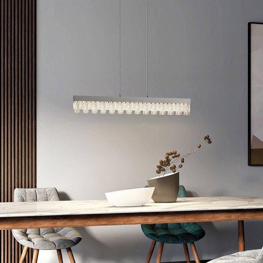 Lucande Bayano LED-hengelampe med krystaller