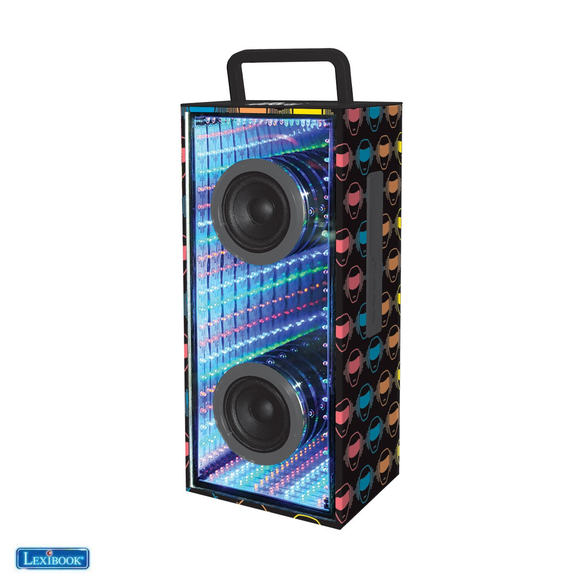Lexibook - iParty Bluetooth Portable Speaker with magical infinity flashing lights (BTL600)
