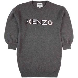 Kenzo Logo Stickad Klänning Svart 4 år