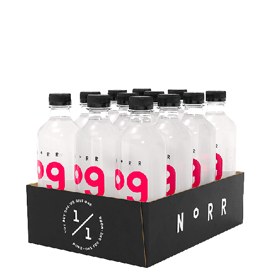 12 x NoRR Hydrate, 500 ml, 09 Raspberry/Lemon
